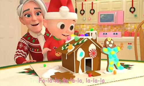 آموزش انیمیشن زبان انگلیسی کودکان کوکوملون cocomelon قسمت سوم Deck The Halls Christmas Song