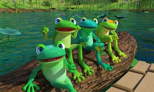 آموزش انیمیشن زبان انگلیسی کودکان کوکوملون cocomelon قسمت سوم Five Little Speckled Frogs