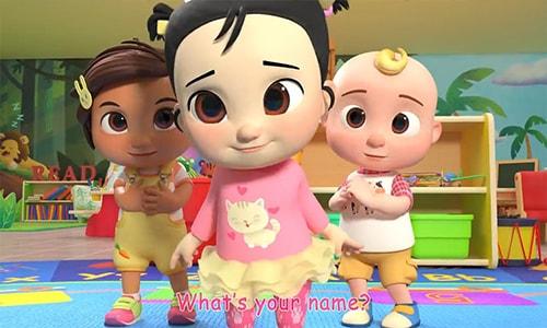 آموزش انیمیشن زبان انگلیسی کودکان کوکوملون cocomelon قسمت سوم Hello Song