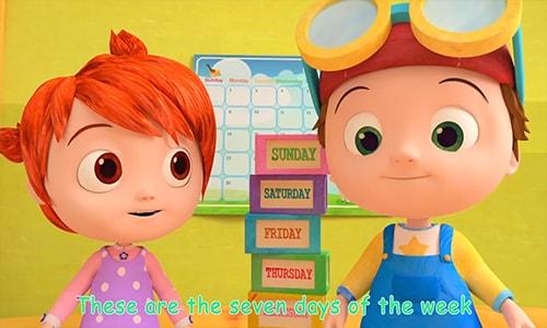 The Days of the Weekآموزش انیمیشن زبان انگلیسی کودکان کوکوملون cocomelon قسمت سوم Song