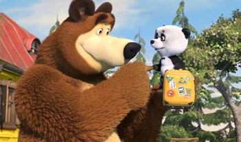 انیمیشن ماشا و خرسه قسمت چهارم زبان انگلیسی