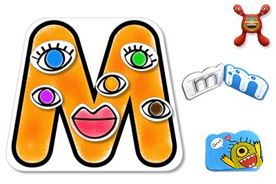 کاردستی و رنگ آمیزی حرف M