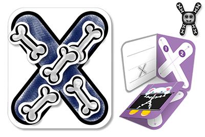 کاردستی و رنگ آمیزی حرف X