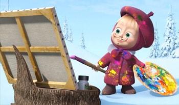 کارتون ماشا و خرس قسمت سوم برای تقویت زبان انگلیسی کودکان