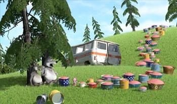 کارتون ماشا و خرسه قسمت دوم زبان انگلیسی کودکان