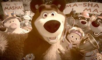 انیمیشن ماشا و خرسه مهربون از محصولات استاد انگلیسی