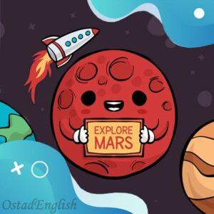 داستان انگلیسی مریخی تصادفی با ترجمه فارسی و تلفظ انگلیسی