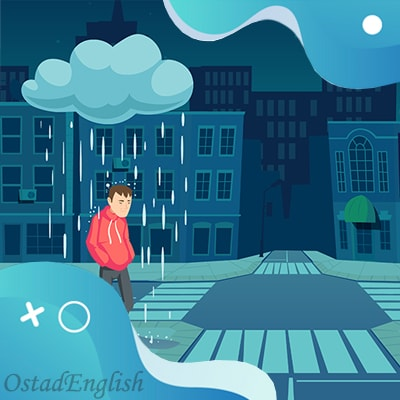 داستان کوتاه انگلیسی باران سیاه باور نکردنی با ترجمه فارسی