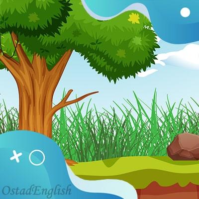 داستان انگلیسی درخت و سبزیجات با ترجمه فارسی