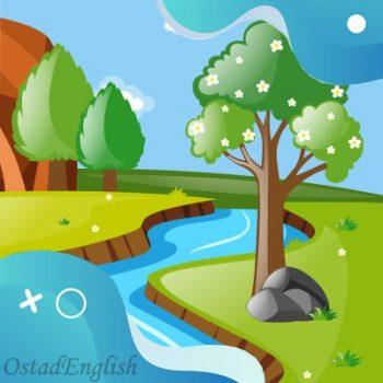 داستان انگلیسی رودخانه نامهربان با ترجمه فارسی