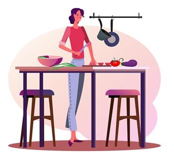 صرف فعل پختن در زمان گذشته استمراری در زبان انگلیسی