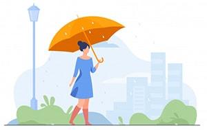 حال کامل استمراری فعل باران باریدن در زبان انگلیسی