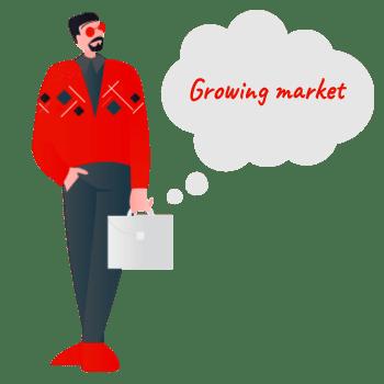 لغات صنعتی و تجاری رشد محصولات growing market