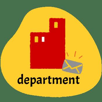 لغات صنعتی و تجاری انگلیسی دپارتمان department