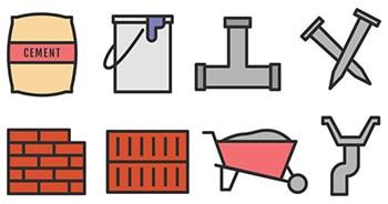 لغات تجاری و صنعتی مصالح ساختمانی building materials