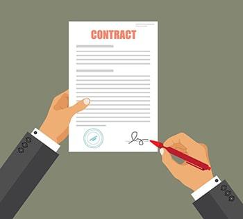 لغات تجاری و صنعتی قرارداد قانونی legal contract