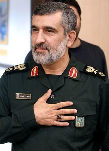 سردار سرتیپ پاسدار امیرعلی حاجیزادهGeneral Amirali Hajizadeh